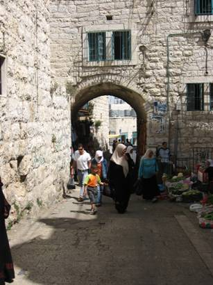 Arab women shopping in Bethlehem