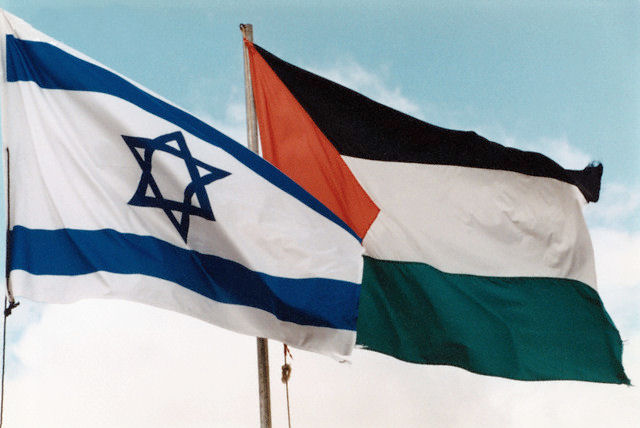 Israeli and Palestinian flag