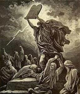 Moses met de 10 geboden