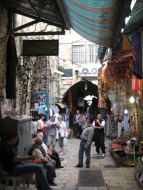 Suq in Old City Jerusalem