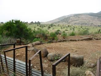 Tel Dan nature park: old bunker near Syrian border