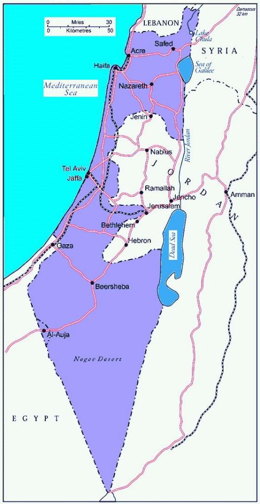 Israel 1949 wapenstilstandsgrens