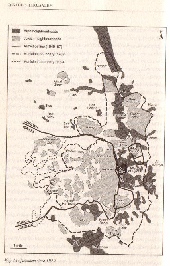 Map Jerusalem 1967
