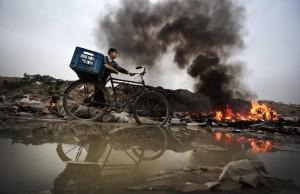 Gazastrook - langs de vuilnisbelt