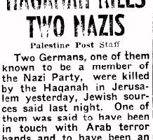 Nazi's in Palestina