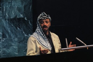 Yasser Arafat Addressing the U.N. General Assembly