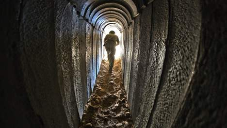 IDF soldaat in Hamastunnel Gaza-Israel