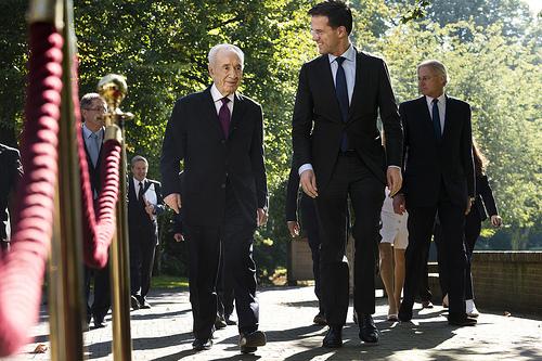 Shimon Peres en Mark Rutte