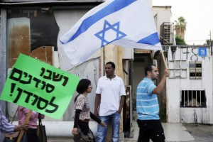 Demonstration against African migrants in Tel Aviv