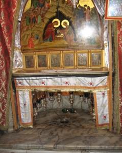 De vermeende geboorteplek van Jezus in Bethlehem