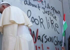 Paus Franciscus tussen Israel en Palestina