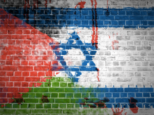 israel-palestine-flags-wall