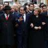 Vreemde verzameling regeringsleiders bij mars Charlie Hebdo