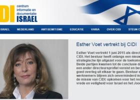 CIDI gaat verder zonder Esther Voet