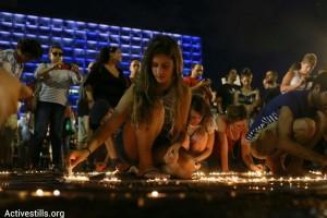 Israelis-protesting-Gaza-war-in-Tel-Aviv