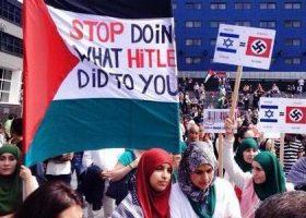 Kauthar Bouchallikht en het Gaza protest